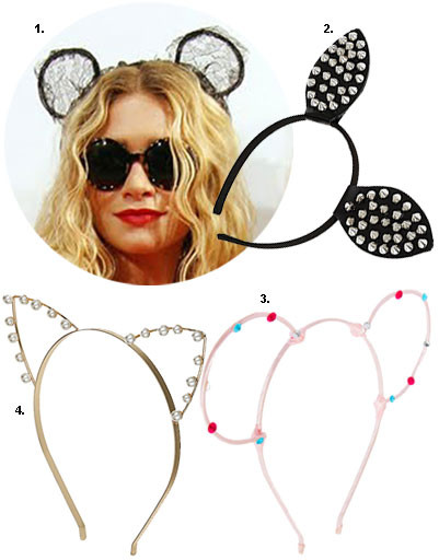 1. Эшли Олсен (Ashley Olsen); 2. ободок Topshop; 3. ободок Asos; 4. ободок Topshop