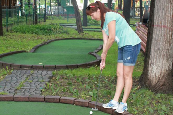 Турнир по гольфу среди СМИ в Парке Горьогок