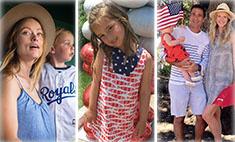 В полосочку и звездочку: милые фото звездных семей