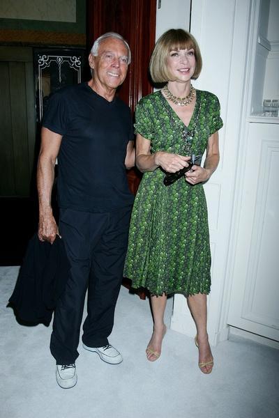 Джоржио Армани (Giorgio Armani) и Анна Винтур (Anna Wintour) на показе Valentino