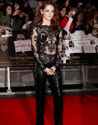 """Кристен Стюарт (Kristen Stewart) на лондонской премьере фильма """"Сумерки. Сага. Рассвет. Часть 2"""""""