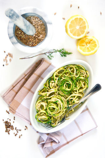Спагетти из цукини с соусом болоньезе