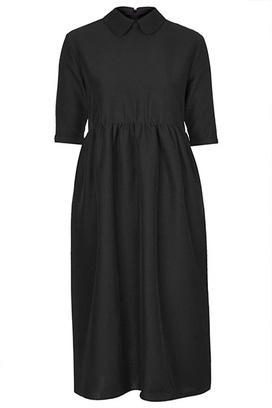 Черное платье-миди