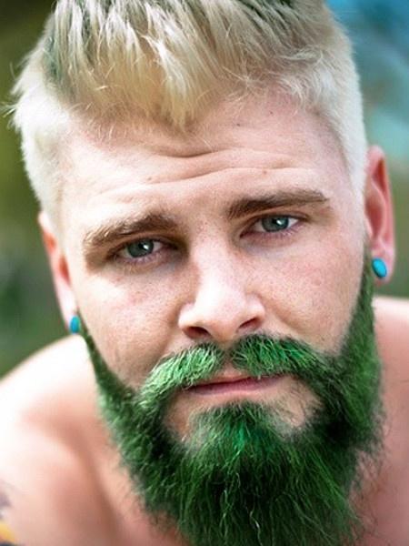 Мужское цветное окрашивание #MermanHair