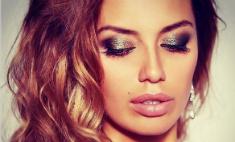 Виктория Боня показала новогодний макияж