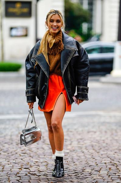 Как носить юбку осенью: фото 2018