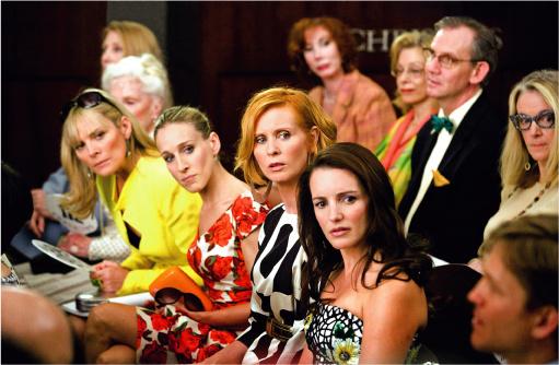 Слева направо: Саманта, Кэрри, Миранда и Шарлотта — легендарная четверка в сборе