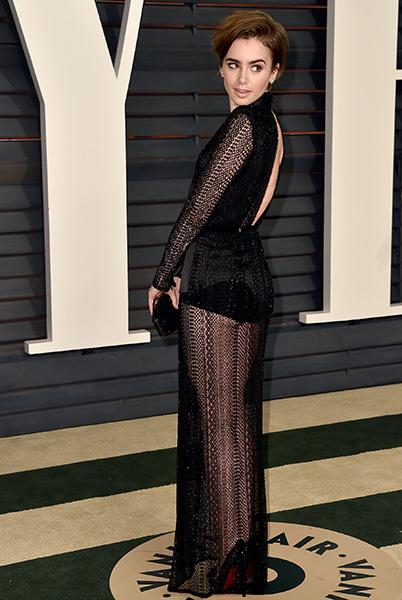 Лили Коллинз на вечеринке Vanity Fair