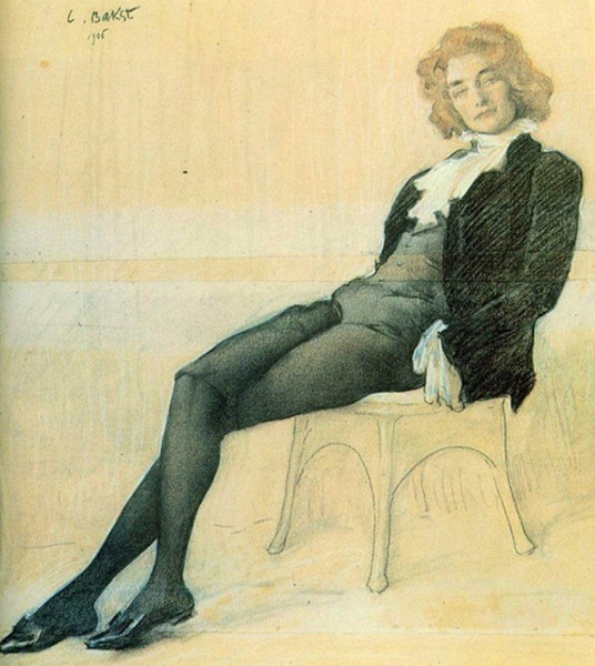 Леон Бакст. Портрет Зинаиды Гиппиус, 1906 г.