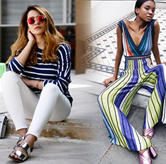 Учимся у фэшн-блогеров: как носить вещи в полоску