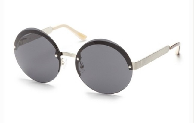 Круглые безоправные солнцезащитные очки