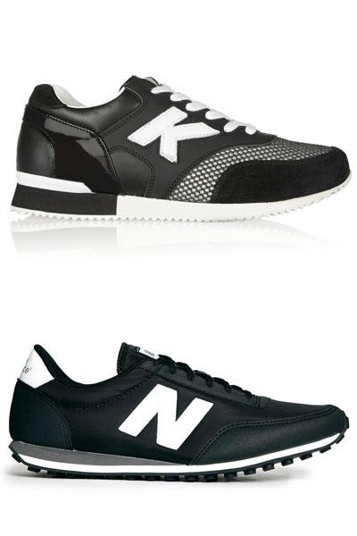 Сверху кроссовки Karl Lagerfeld, снизу - New Balance