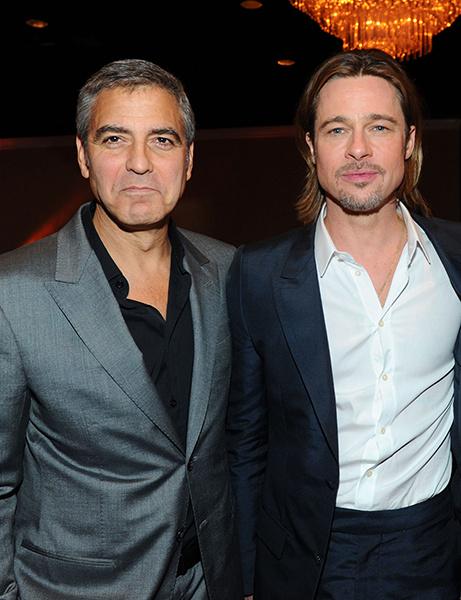 голливудские друзья Джордж Клуни и Брэд Питт