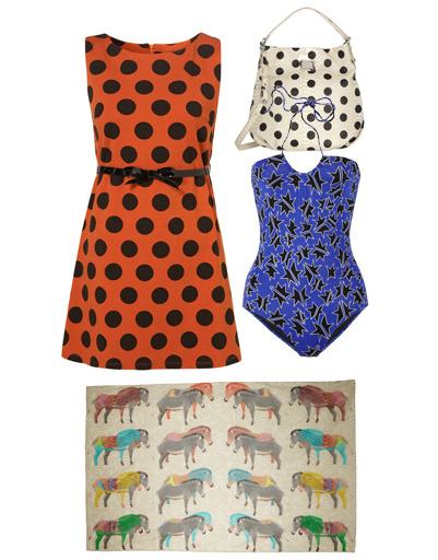Платье TopShop, сумкаMarc by Marc Jacobs, купальник Miu Miu, платок Yarnz