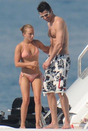 Хэйден и Стив во время отдыха на яхте