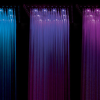 Потолочные встраиваемые душевые лейки с подсветкой, IB Rubinetterie, www.ibrubinitterie.it, салон Tendenza.