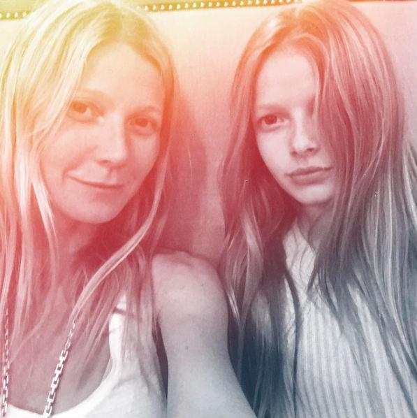 Гвинет Пэлтроу с дочерью Эппл