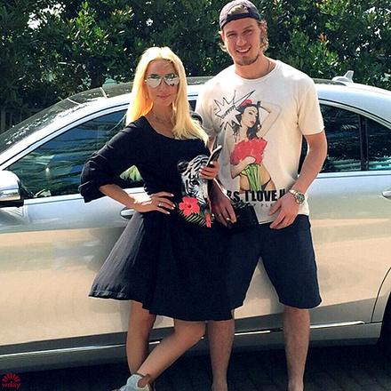 Лера Кудрявцева с мужем, фото