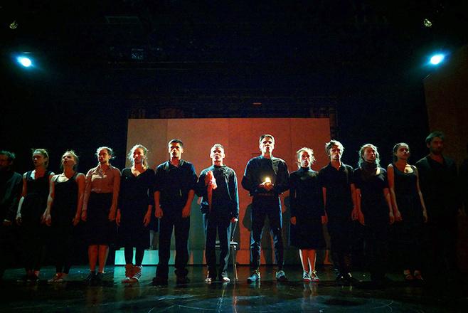 Молодая гвардия в театре Мастерская