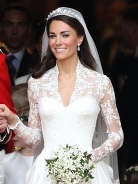 Свадебный наряд Кэтрин Миддлтон | Мода на Elle.ru
