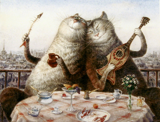Коты петербурга репродукции