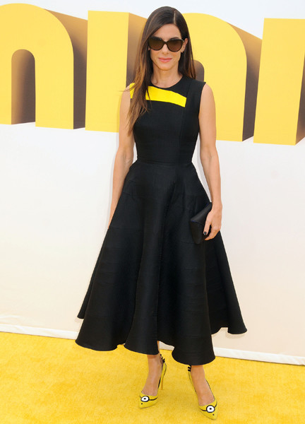 Сандра Буллок на премьере фильма «Миньоны» в Лос-Анджелесе