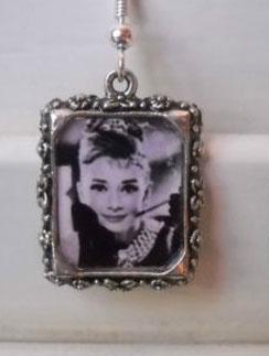 Серьги с изображением Одри Хепберн, eBay.ru