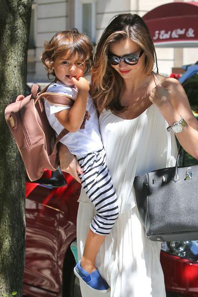 Миранда Керр с сыном Флинном в Нью-Йорке