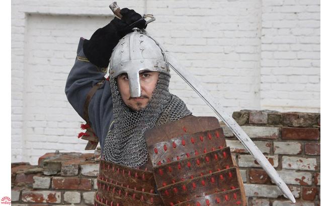 Историческая реконструкция в Казани, самые брутальные мужчины