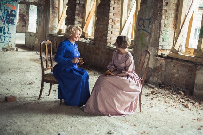 Красноярские актеры провели репетицию в заброшенном особняке