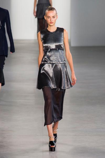 Показ Calvin Klein Collection на Неделе моды в Нью-Йорке