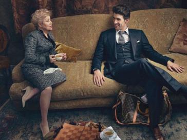 Майкл Фелпс (Michael Phelps) и бывшая советская гимнастка Лариса Латынина в рекалмной кампании Louis Vuitton
