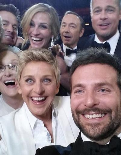 Знаменитый селфи «Оскара-2014»