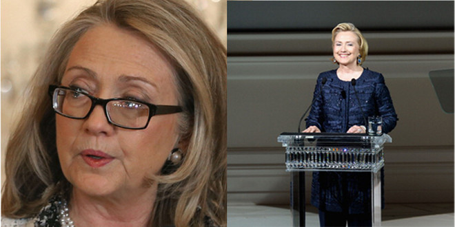 Хиллари Клинтон в январе 2013 года и в июне 2013 года