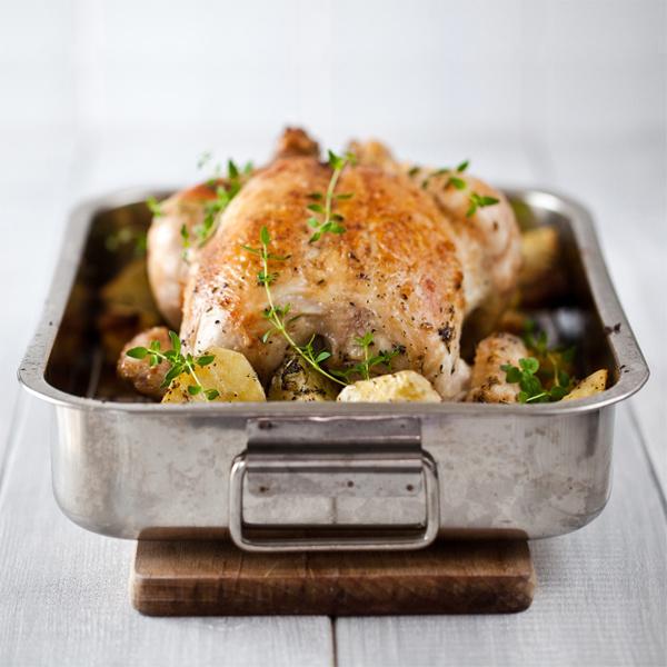 Жареная курица с картошкой в мультиварке redmond