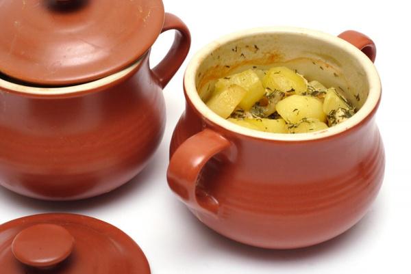 Картофель с грибами в горшочках: рецепт