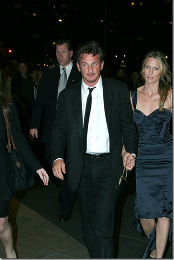 Шон Пенн с супругой Робин Райт