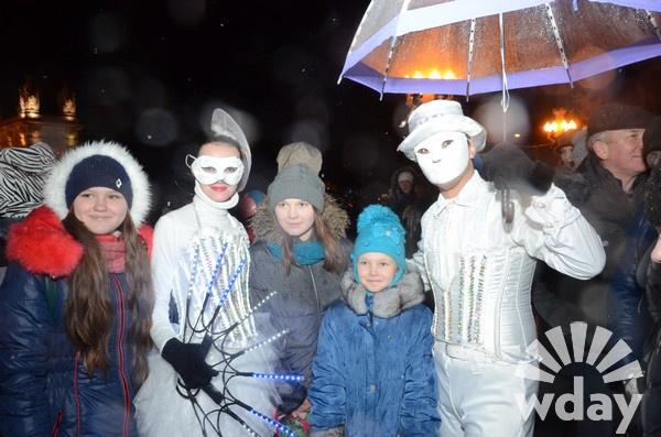 Волгоград, горожане, парад Дедов Морозов, Новый год
