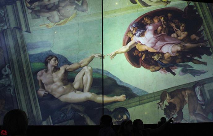 Выставка «Микеланджело. Сотворение мира», фото