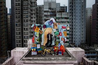 У Квон на крыше в Гонконге