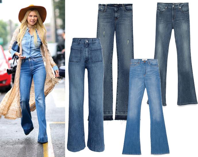 Модные джинсы весна лето 2015 фото Джинсы клеш