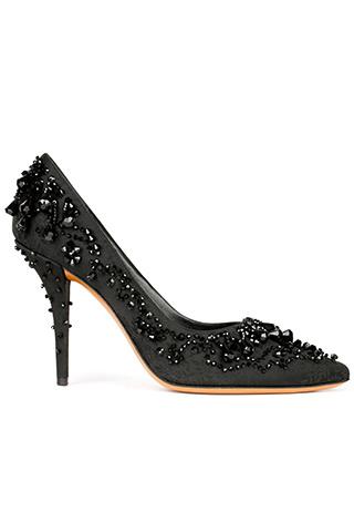 Туфли с вышивкой и стразами, Givenchy by Riccardo Tisci