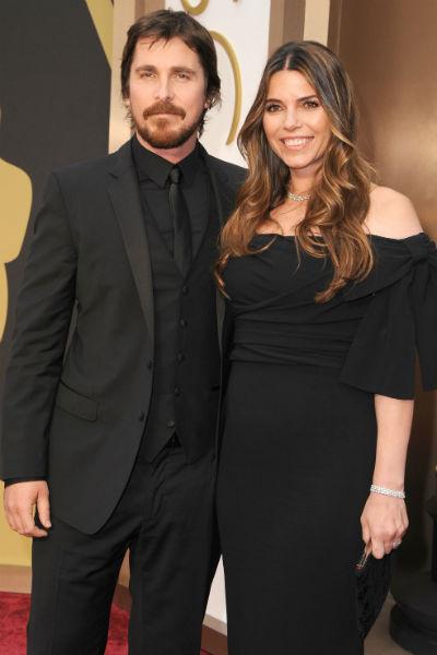Кристиан Бэйл и его жена Сиби на церемонии вручения «Оскара»