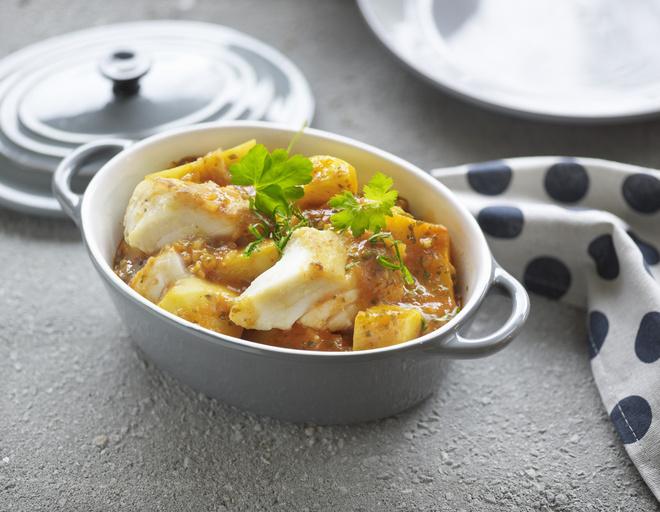 филе трески в духовке с картошкой фото рецепт