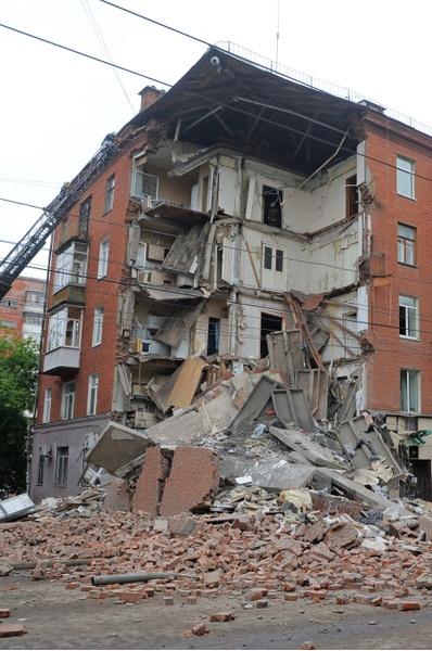 Дом после обрушения