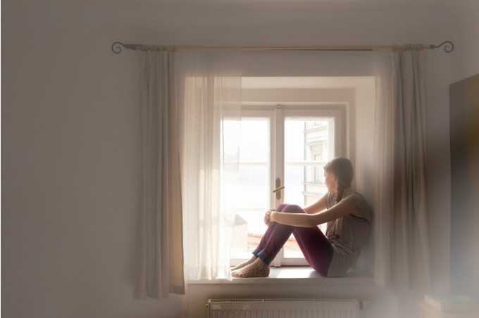 Человек на окне