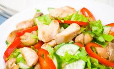 Рецепт салата с курицей и маринованными шампиньонами