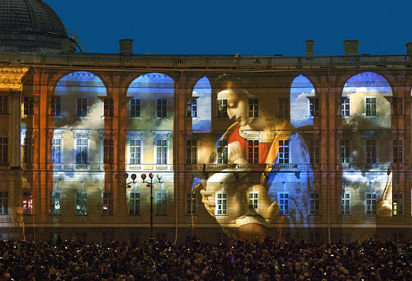 3D-спектакль «Бал истории», юбилей Эрмитажа