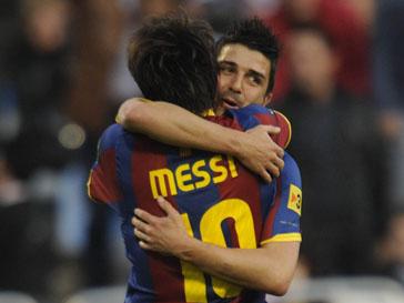 Лионель Месси (Lionel Messi) и Давид Вилья (David Villa)