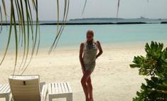 Анастасия Волочкова проводит отпуск на Мальдивах